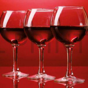 Glas Motiv Rotweingläser 1