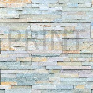 Glas Motiv Steinmauer 1