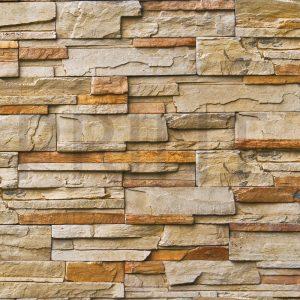 Glas Motiv Steinmauer 2