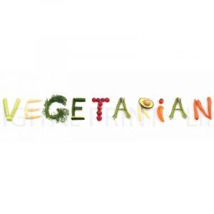 Glas Motiv Vegetarian