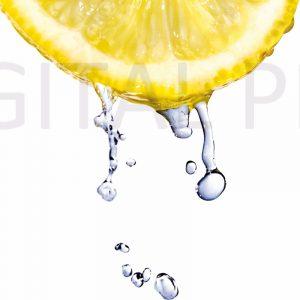 Glas Motiv Zitrone