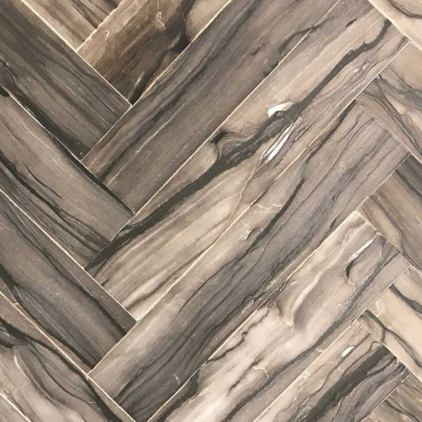 Woodstone Sequoia Brown Herringbone