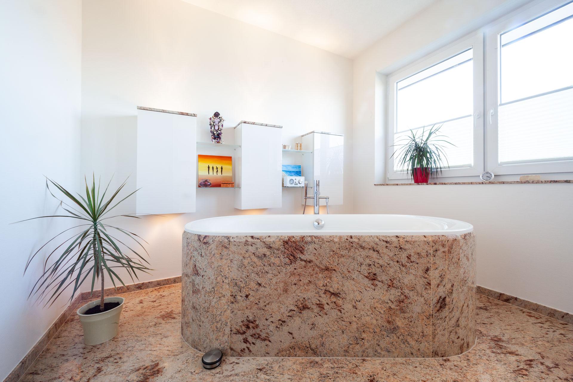 Badezimmer aus Naturstein Ivory Brown